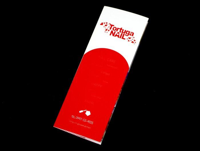 ネイルサロンのリーフレット|TORTUGA NAIL