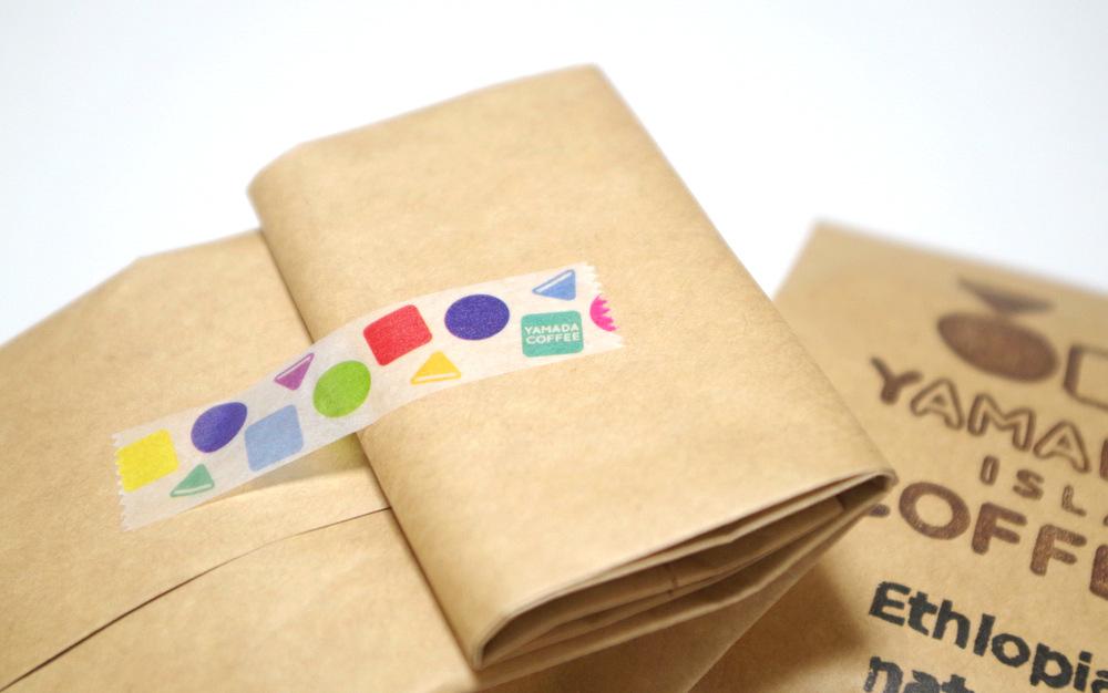 マスキングテープ活用例|デザイン|奄美|山田珈琲