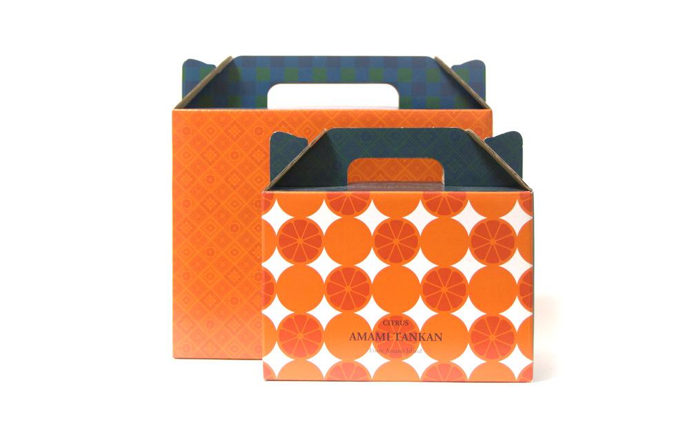 奄美大島産の柑橘「たんかん」の化粧箱